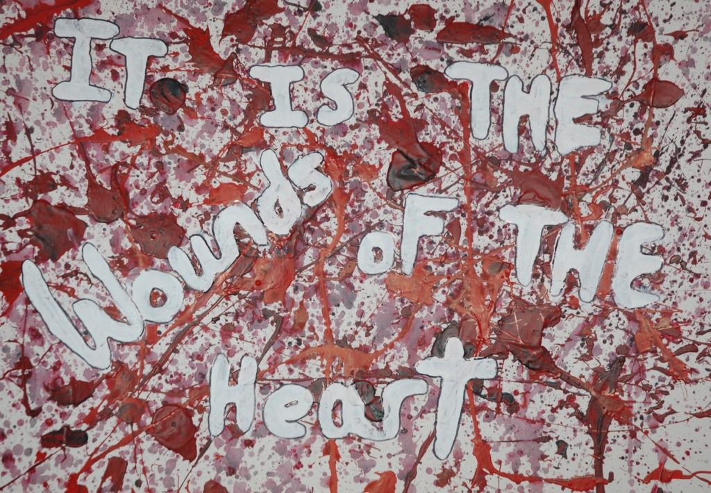 It is teh wounds of the heart