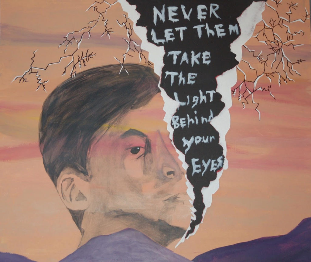 Never let them take the light behind your eyes