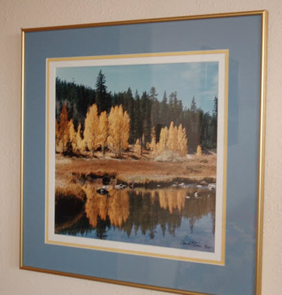 framed autuum painting