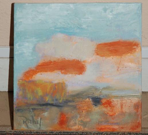 painting orange clouds